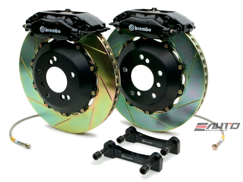 Brembo Rear Gt Bbk Brake 4pot 345x28 Slot Black 300c Challenger Charger Magnum