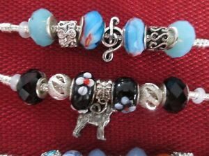 jewellery  making supplies, Pandora style beads, bracelets,charm