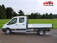 15 FORD Transit 350 2.2 TDCi 155ps L3 Long Wheel Base Double Cab Tipper DIESEL M