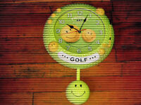 Golf Clock with Pendulum