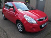 Hyundai I20 1.2 COMFORT - 12 MONTHS MOT, SERVICED, 3 MONTHS WARRANTY & AA (red) 2011