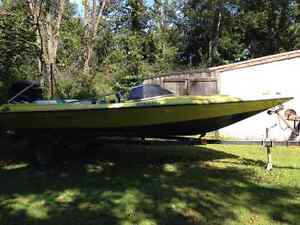 $2200 FIRM-Baja speed boat with 150hp Merc motor and trailer
