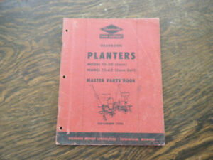 Ford Dearborn Planters November 1950 Parts Book