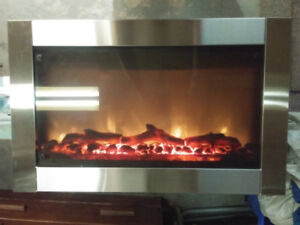 Stainless steel Electric fireplace/1400w heater