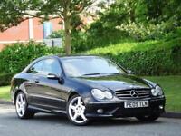 2009 Mercedes Benz CLK220 CDI Sport Avantgarde +1 OWNER +FSH +FULL AMG KIT+ AUTO
