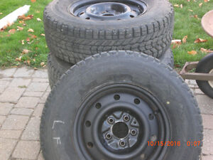 Winter Tires On Rims 225/70/R15