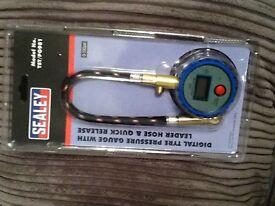 SEALEY Digital tyre pressure gauge
