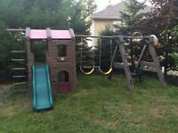Step two swing set