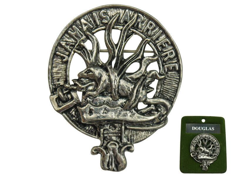 "2"" Scottish NEW Scotland Crest Pin Badge: DOUGLAS Clan Badge"