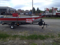 14 FOOT ALUMINUM BOAT WITH TRAILER AND 9.9 EVINRUDE