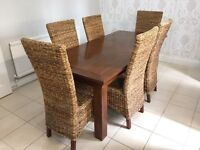 Beautiful Extending Dining Table and 6 chairs from Harveys