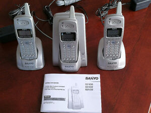 Sanyo Cordless Phone (3 handsets) in great condition