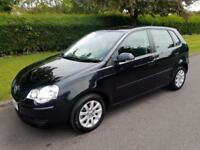 VOLKSWAGEN POLO 1.4 SE - AUTOMATIC - 5 DOOR - 2007 - BLACK