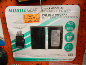 2-Pack Portable Cell Phone Charger [MobileGear]