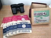 Antique sawyers view-master stereoscope with box and slides
