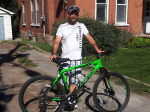 Many quality mountain bikes for sale, some brand new or custom