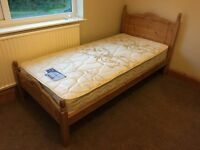 Pine Single Bed with Silentnight Mattress
