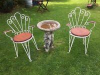 Antique Garden Chairs x2
