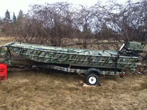 14ft Jon boat motor and trailer