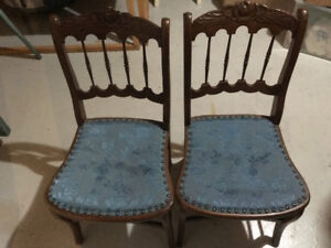 Pair of antiques chairs selling way below appraisal value !