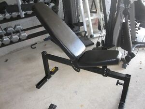 Incline FlaT Bench gym weights exercise