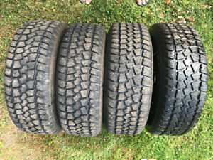 215/65R15 winter tires with studs on steel rims