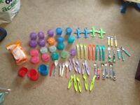Weaning Pots, baby cutlery, tippe cups and Annabel Karmel Receipe book