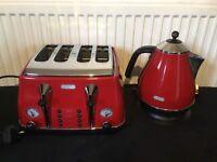 Delonghi breakfast set Kettle and Toaster VGC bargain