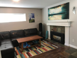 $700 Large Den in Modern Daylight Basement Suite (North Vancouve