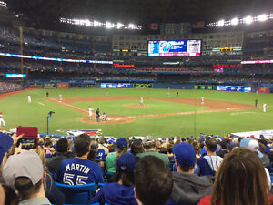 Jays vs Rangers 100 level near home plate.