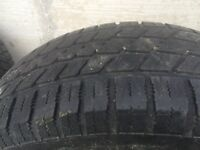 4 15 inch winter tires on rims 215/65r15