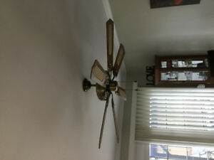 FOR SALE:  Ceiling Fan with light kit