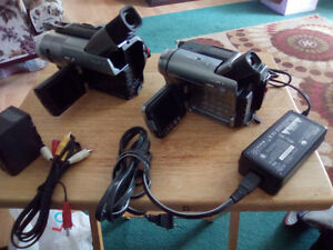 2 SONY HANDYCAMS+ACCESSORIES-STILL + MOVING PICS-125.00