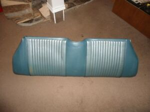 1969 1970 Mustang Coupe Winter Blue Rear Seat Bottom Tag VGC