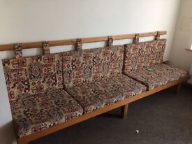 BENCH SEATS with cushions