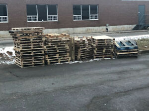 Free skids ready for pickup.
