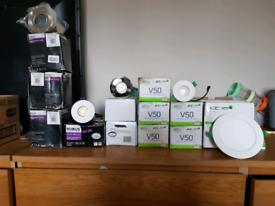 Spotlights and bulbs. All new