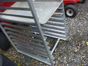 Aluminum Tray Rack, holds 20  [18 x 26] trays, 64 inches tall