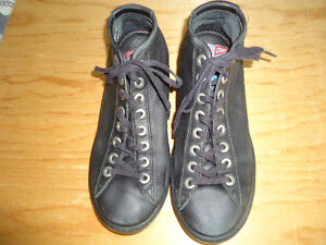 Black leather Camper shoes/sneakers, size 8