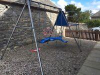 Kids swing set and slide