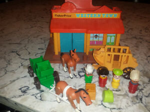 Vintage Fisher Price Little People Western #934