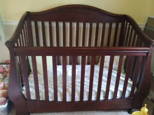 Solid wood baby crib for sale