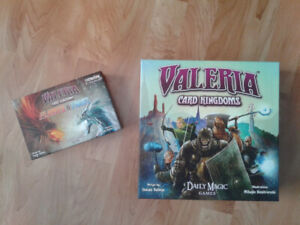 Valeria Card Kingdoms game with Flames and Frost expansion