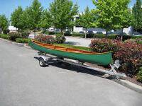Classic Canadian Chestnut Canoe and Trailer