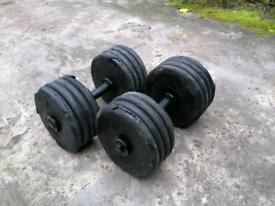 42kg x 2 Dumbbells Weights
