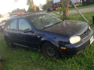 (REDUCED!) 2001 Volkswagen Golf GLS for Parts