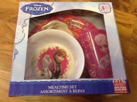 Disney Frozen - 3 Pieces Mealtime Set, Brand New, Unopened