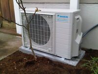 Ductless Heat Pumps for heating and cooling
