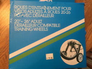 Adult training wheels for bicycle.