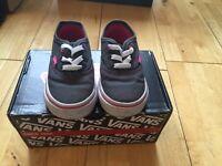 Vans, infant dark grey and pink